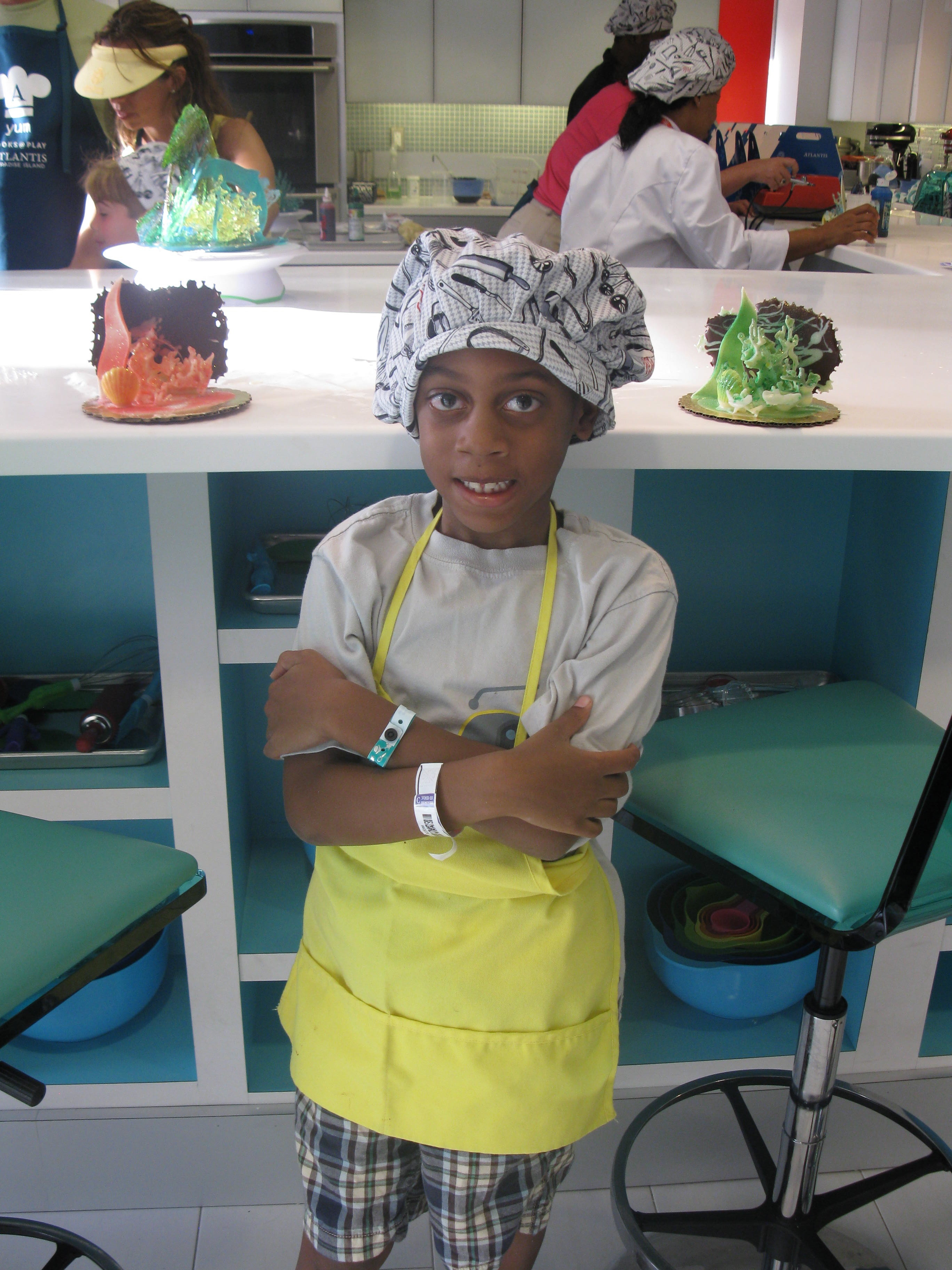 Chef for the day at Atlantis