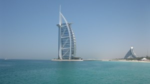 Dubai's iconic Burj al Arab hotel. Read all about Dubai on GlobetrottingMama.com