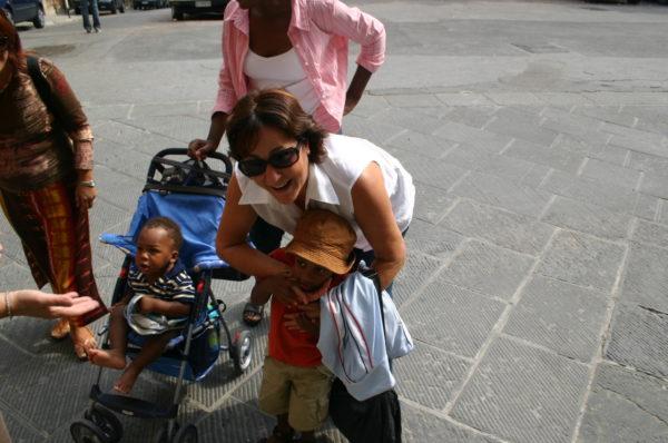 Cheek Squeezing in Siena