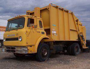 Yellow Garbage Truck