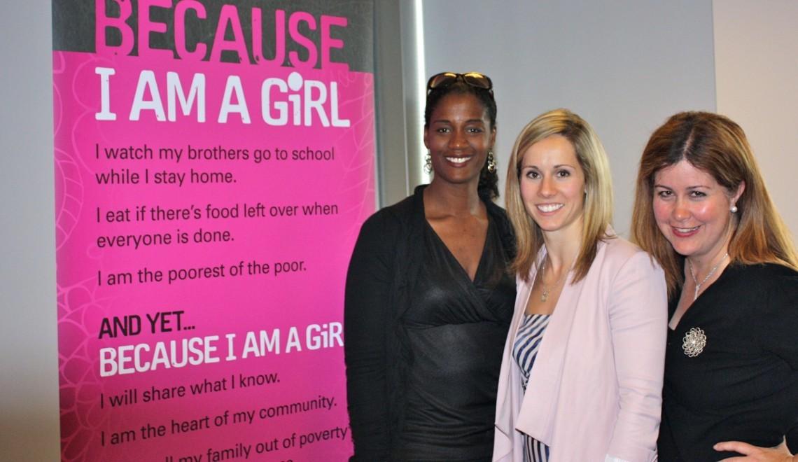 With Because I am a Girl Ambassador, Jenn Heil
