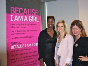 With Because I am a Girl Ambassador, Jenn Heil