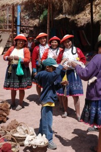 E with the locals (peru)