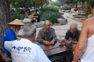 men in the park Beijing