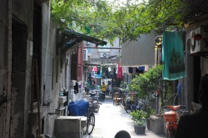 The back streets of Shanghai