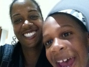 mom and cam