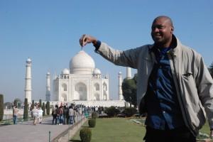 Ish carrying Taj