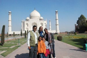 rajeev and fam taj