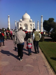 heading to taj