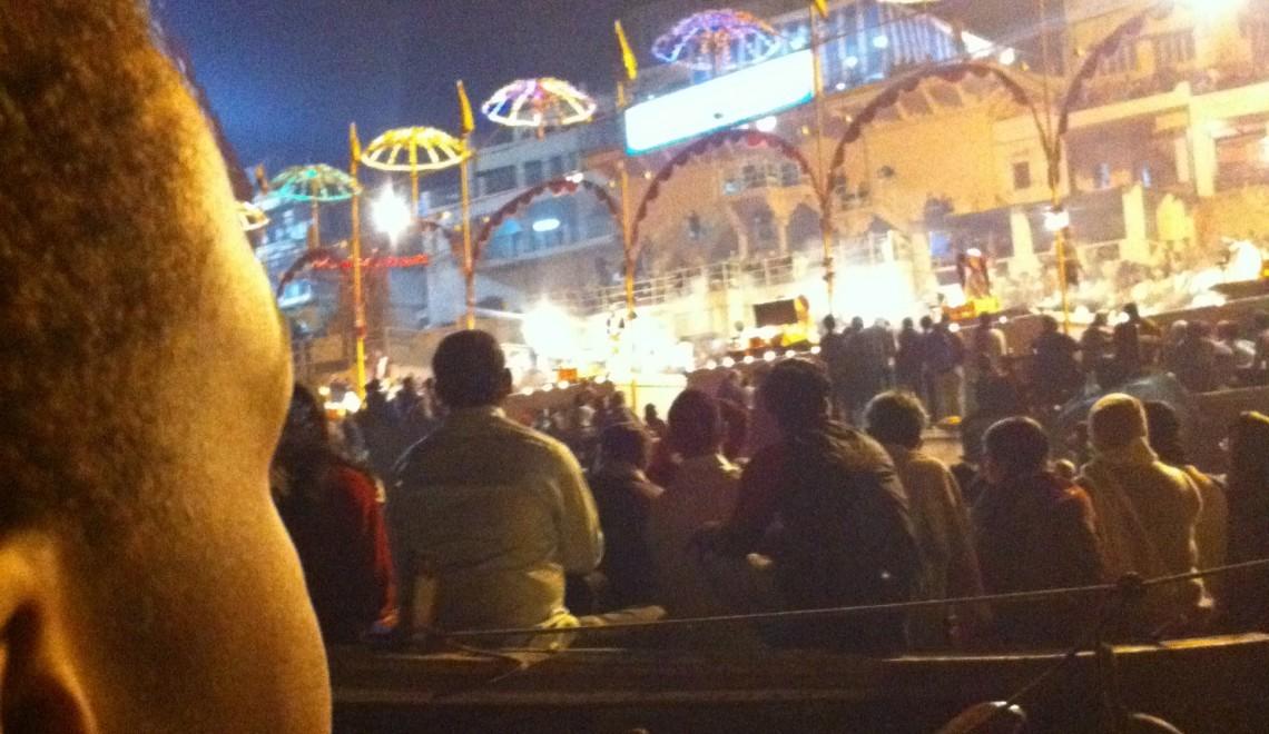 Evening prayer service on the Ganges
