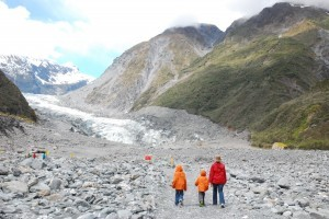Glaciers family new zealand