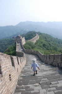 Great Wall China child