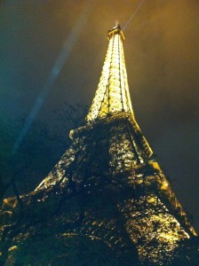 night tower eiffel