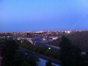 Seville in the distance