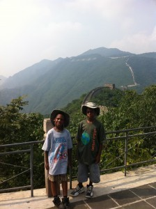 Here is me and Cameron standing on the great wall