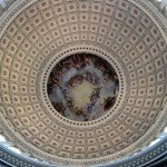 Inside the Rotunda (dome) of the Capitol Building
