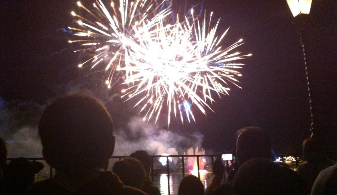 fireworks silhouette