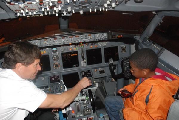 E in the cockpit