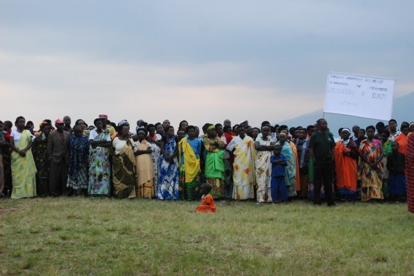 A small portion of the community gathered for the celebrations