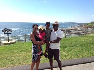 Tracy Moore on the road with her family. As featured on GlobetrottingMama.com