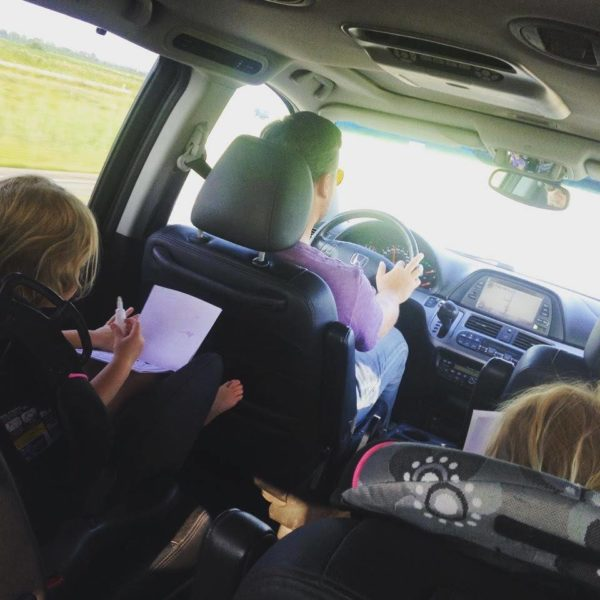 Leisse Wilcox's family on the road. Read her interview on GlobetrottingMama.com
