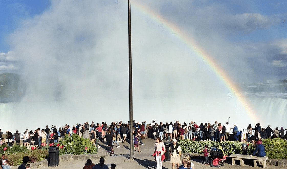GlobetrottingMama.com's trip to Niagara - A rainbow over the falls