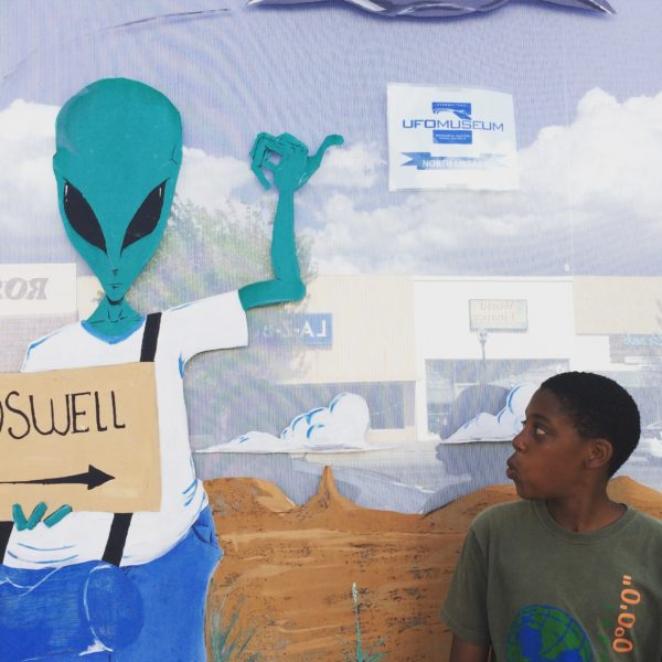 Roswell, New Mexico wasn't originally in the plans but being flexible meant we could stop to meet the locals.