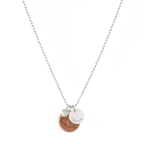 Citrus Silver Penny Necklace