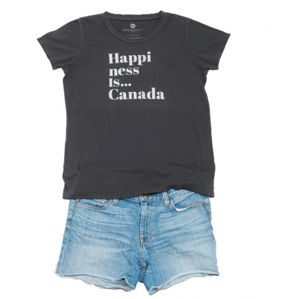 Happiness is ... Canada t-shirt
