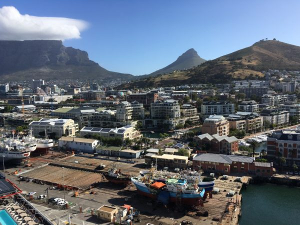 Views of Cape Town neighbourhoods and the iconic Table Mountain
