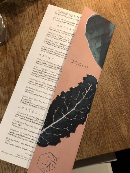 Acorn menu Bath