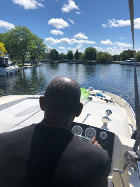 man drives a Le Boat in Ontario
